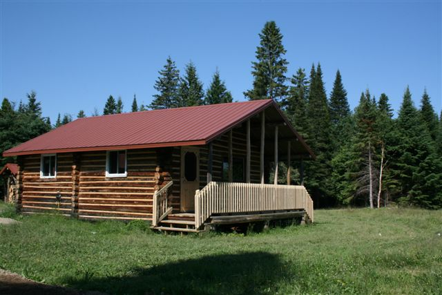 photo of a cabin
