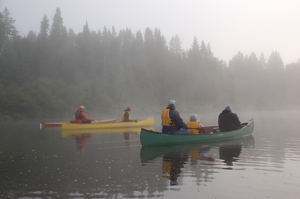 Photo of people canoeing