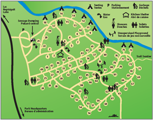 Map of Armstrong Brook Campground
